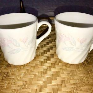 Corning Pink Trio Mug Pair